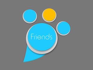 Happy Friendship Day Background With Friend Circle On Grey Background.