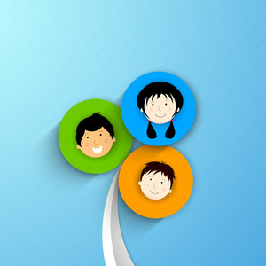 Happy Friendship Day Background With Friends Circle On Blue Background.