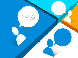 Happy Friendship Day Background With Friends Connected Through Social Media