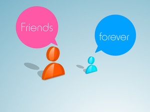 Happy Friendship Day Background With Glossy Icons On People With Seppech Bubble