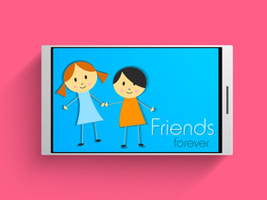 Happy Friendship Day Background With Smartphone