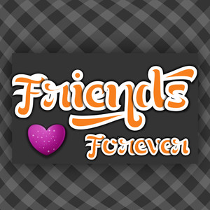 Happy Friendship Day Background With Stylish Text On Abstract Grey Background.