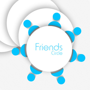 Happy Friendship Day Concept With Blue User Icons On Grey Background.