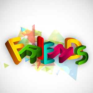 Happy Friendship Day Concept With Colorful Text On Abstract Background.