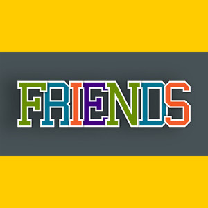 Happy Friendship Day Concept With Colorful Text On Yellow And Grey Background.