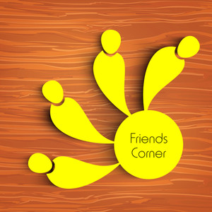 Happy Friendship Day Concept With Friends Circle On Wooden Background.
