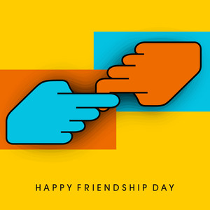 Happy Friendship Day Concept With Human Hand Knotting On Yellow Background.