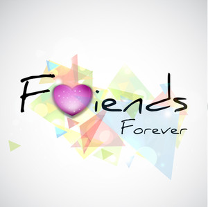 Happy Friendship Day Concept With Stylish Text And Pink Heart Shape On Abstract Background.