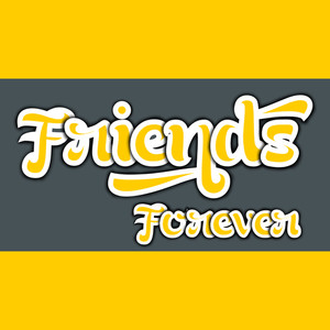 Happy Friendship Day Concept With Stylish Text On Yellow And Grey Background.