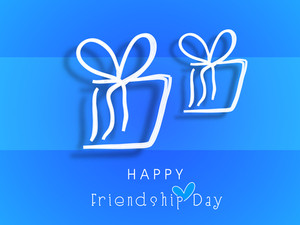 Happy Friendship Day Concept With Two Gift Boxes