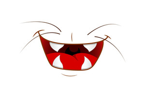 Happy Funny Cartoon Animal Mouth