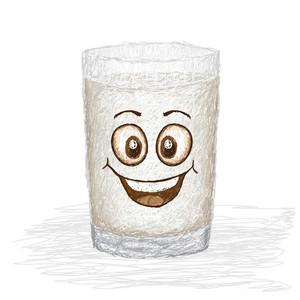Happy Glass Of Milk