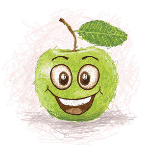 Happy Green Apple