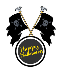 Happy Halloween Flags Frame