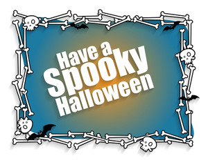 Happy Halloween Greeting Banner Vector