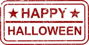 Happy Halloween Grunge Banner