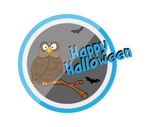 Happy Halloween Owl Vector Graphic