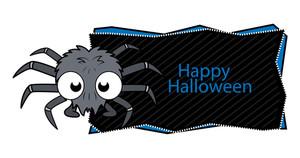 Happy Halloween Spider Banner