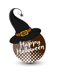 Happy Halloween Witch Hat Banner