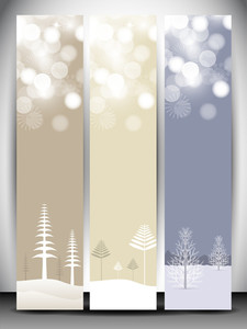 Happy Holidays Website Banner With Beautiful Snowflakes Design