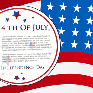 Happy Independence Day 4th Of July Abstract Background And Cards In Vector Format