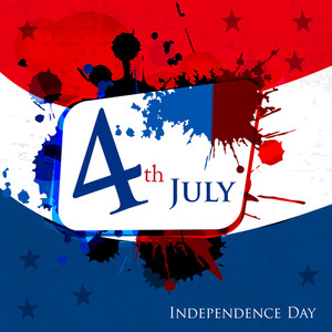 Happy Independence Day 4th Of July Abstract Background And Sticker Cards In Vector Format