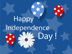 Happy Independence Day Background 4th Of July Vector