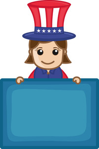 Happy Independence Day - Business Cartoon Characters