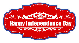 Happy Independence Day Sticker Tag 4th Of July Vector Illustration