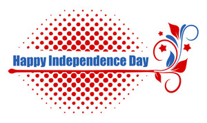 Happy Independence Day Vector Text