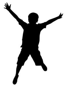 Happy Kid Jumping Shape