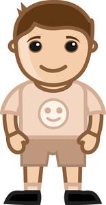 Happy Kid - Vector Character Cartoon Illustration