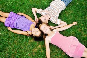 Happy kids outside