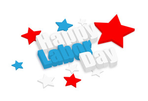 Happy Labor Day 3d Text