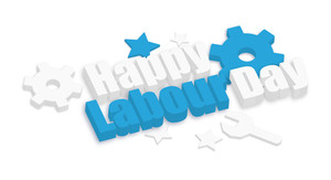 Happy Labour Day 3d Gears