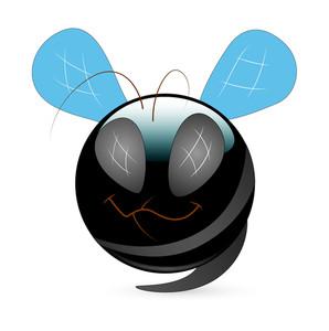 Happy Monster Bee Cartoon Smiley