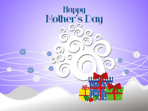 Happy Mother's Day Background With Colorful Gift Box