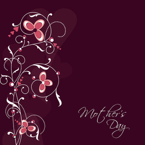 Happy Mothers Day Background With Floral Design