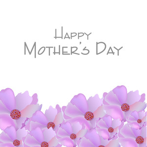 Happy Mother's Day Background With Flowers