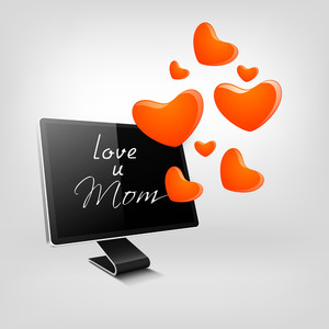Happy Mothers Day Background With Text