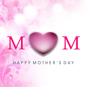 Happy Mothers Day Celebrations Greeting Card Design.