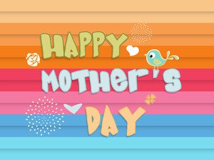 Happy Mother's Day Colorful Greeting Card Or Background