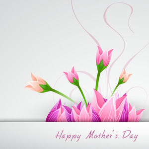 Happy Mothers Day Concept With Flowers