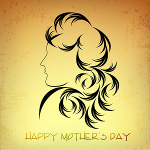 Happy Mothers Day Concept With Sketch Of A Lady