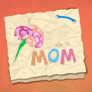 Happy Mothers Day  With Colorful Text Mom