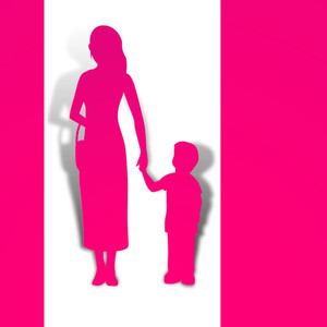 Happy Mothers Day  With Silhouette