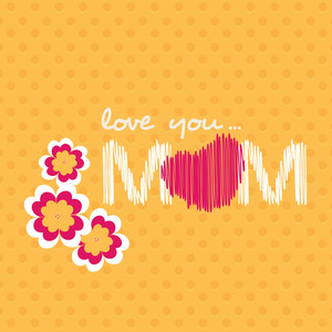 Happy Mothers Day With Text Love You Mom