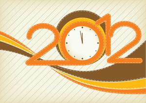 Happy New Year 2012 - Retro Design