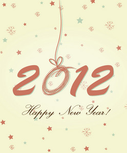 Happy New Year 2012 Vector Greeting Card