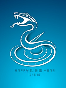 Happy New Year 2013 With Snake Design